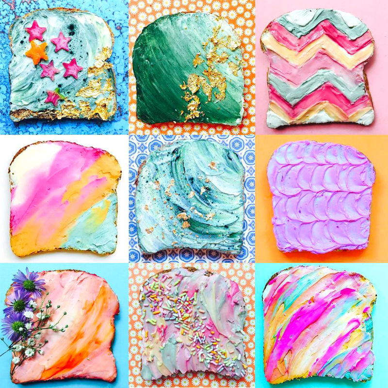 Mermaid Toast Is Viral On IG And Its Our Favorite Trend