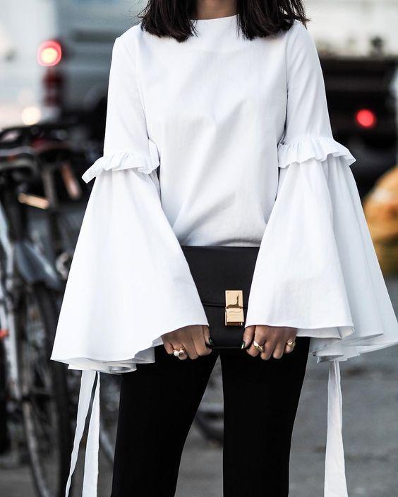 Tạo xu hướng mới với màu đen và trắng  #2| 15 gợi ý phong cách thời trang của phụ nữ Á Đông | Her Beauty