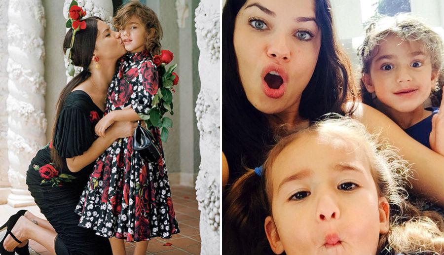 Адриана Лима с дочерями Валентиной и Сиенной | Her Beauty