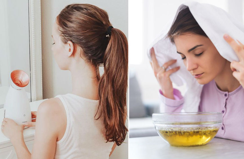 Steam therapy   9 Best Tips To Get Glowing Skin In Summer Naturally   Her Beauty