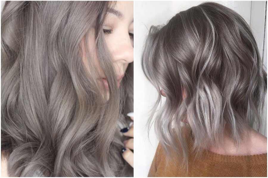 Ash-gray   How To Get Silver Hair: The Ultimate Guide to Dyeing Your Hair Her Beauty