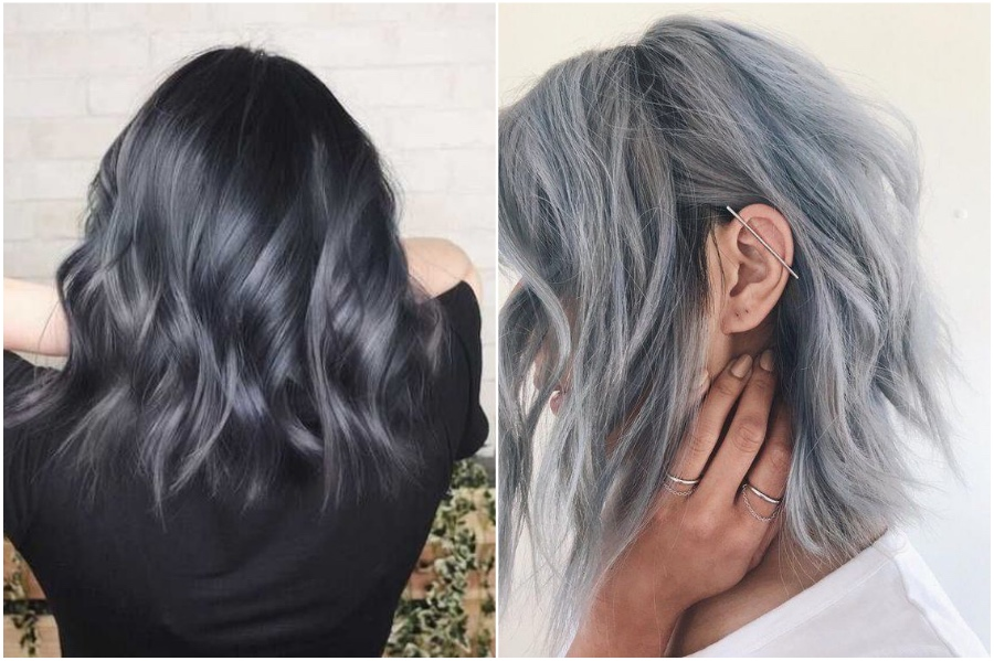 Blue-gray   How To Get Silver Hair: The Ultimate Guide to Dyeing Your Hair Her Beauty