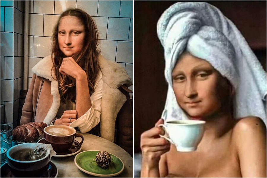 Mona Lisa sit in the towel | Mona Lisa Reimagined In The Modern World Excerpt | Her Beauty