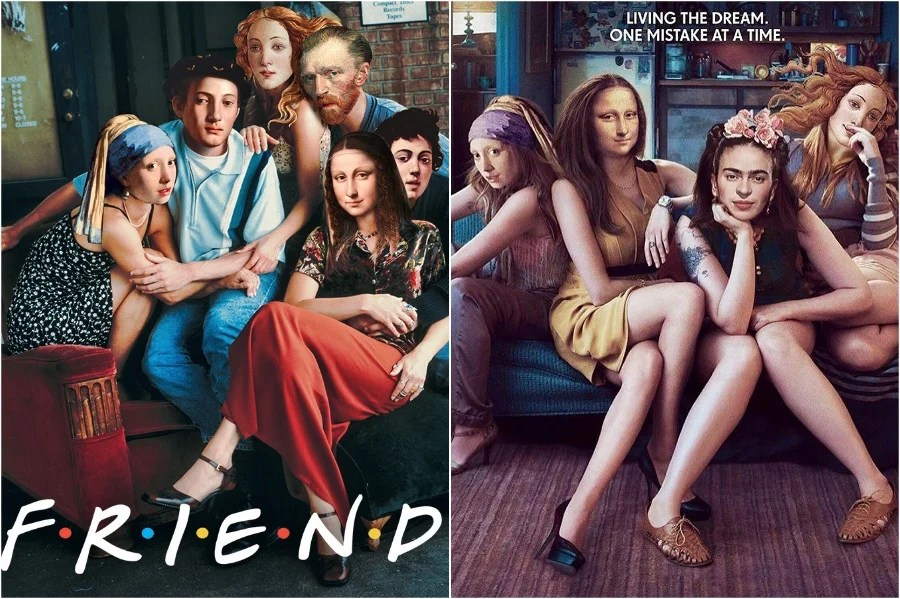 Mona Lisa in FRIENDS and GIRLS  | Mona Lisa Reimagined In The Modern World Excerpt | Her Beauty