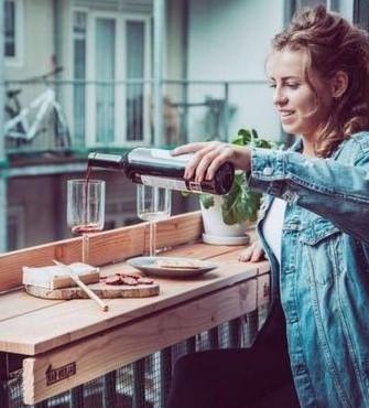 Elevated table Balcony | 10 Cozy Balcony Ideas | Her Beauty