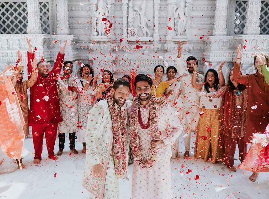 Gay Couple Immortalizes Gorgeous Traditional Indian Wedding #2 | Her Beauty