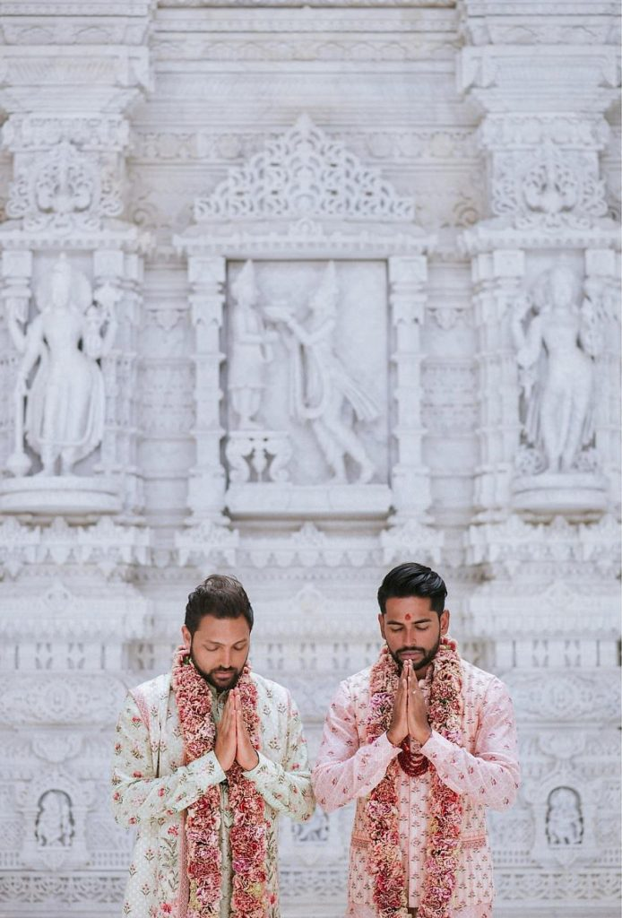Gay Couple Immortalizes Gorgeous Traditional Indian Wedding #6 | Her Beauty