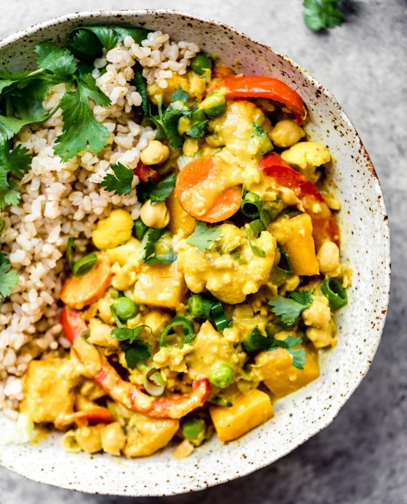Yellow Chickpea Pumpkin Curry with Coconut Brow | 12Healthy Pumpkin Recipes Perfect for Fall | Her Beauty