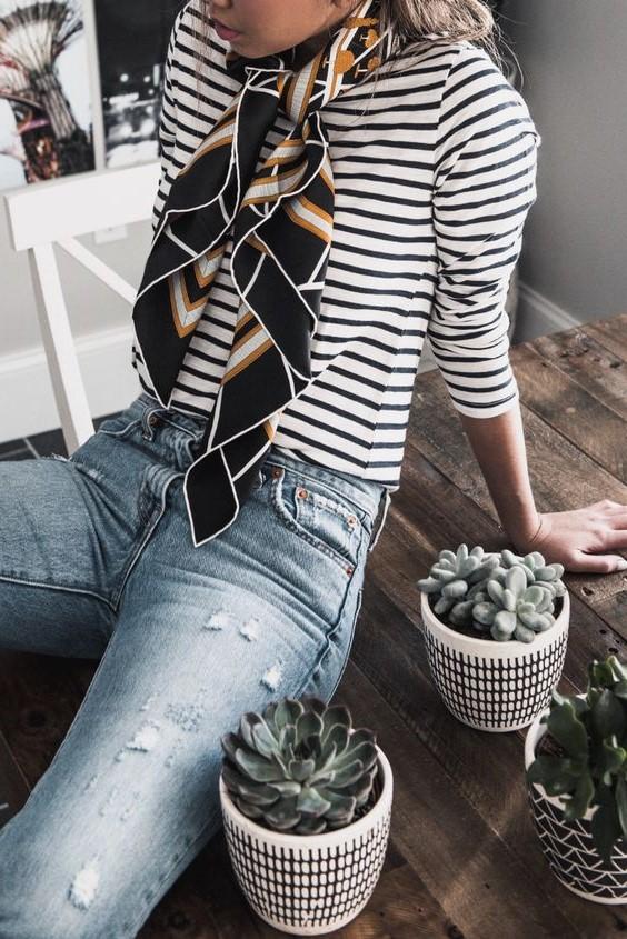 Silk scarf | 12 Super Stylish Ways to Wear a Scarf| Her Beauty