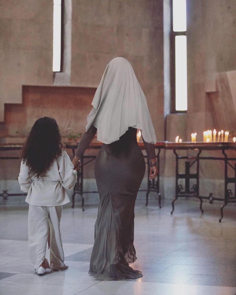 Kim Kardashian And Her Kids Baptized In Armenian Church #9   Her Beauty