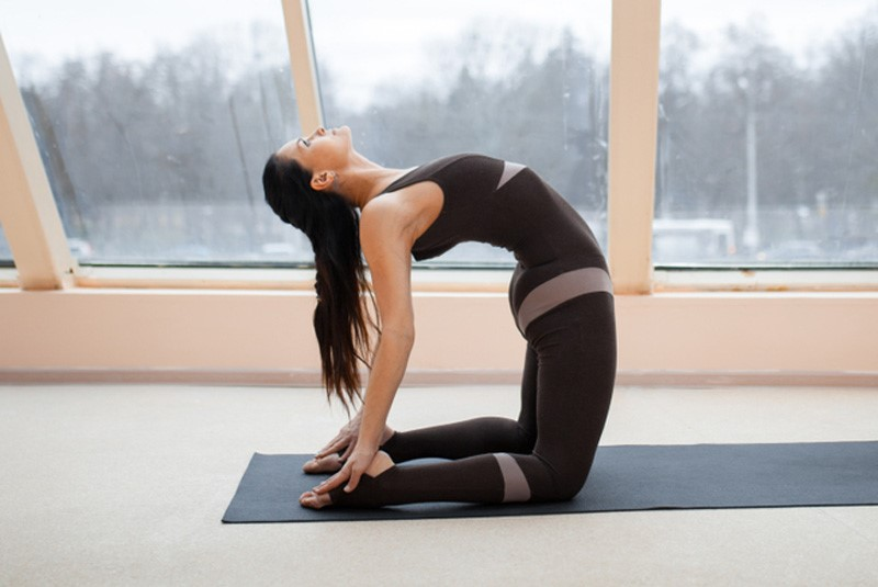Camel pose   15 Morning Yoga Poses For Beginners   Her Beauty