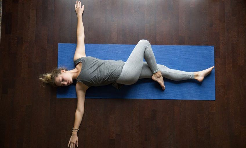 Spinal twist   15 Morning Yoga Poses For Beginners   Her Beauty