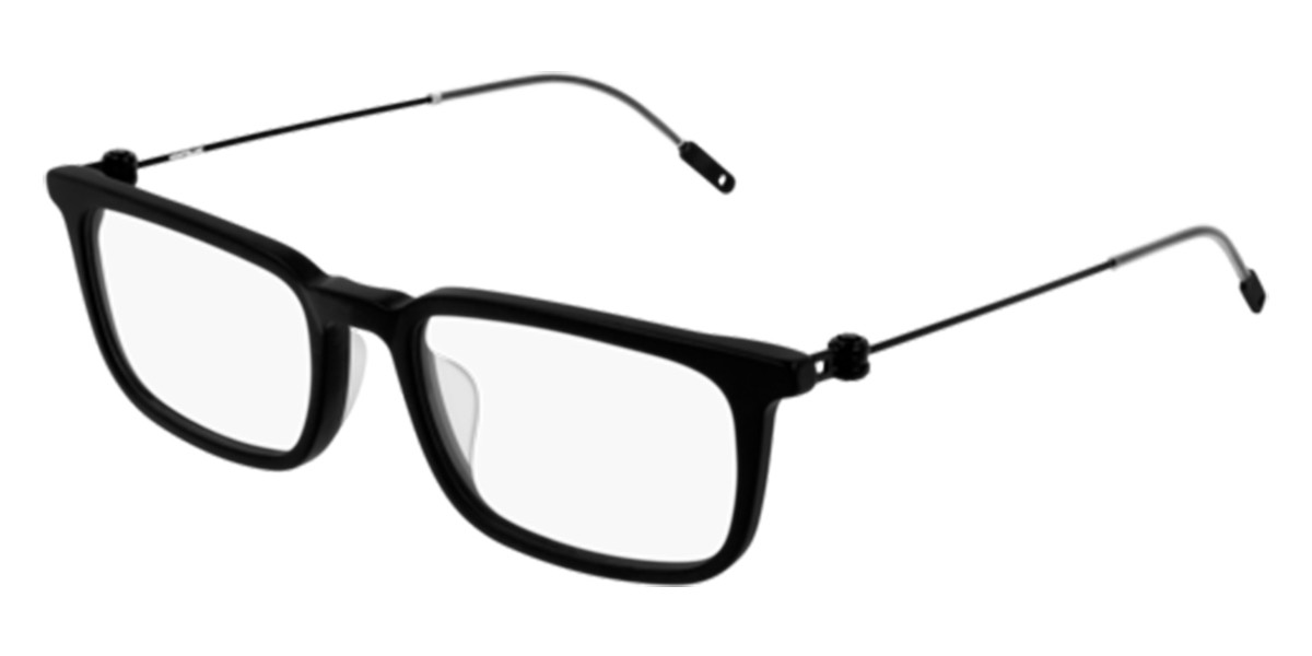 Mont Blanc MB0052O 002 Eyeglasses in Black