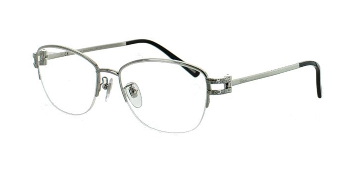 Chopard VCH 855S 0579 Eyeglasses in Shiny Palladium Black