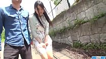 Hot japan girl Misaki Oosawa lick cock and fuck in excellent outdoor scene