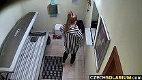 Czech Solarium - Masturbating Teen Girl