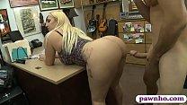 Sylvia Garza big ass paying at pawnshop