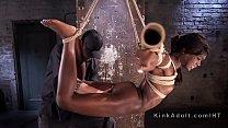 Stunning ebony in bondage
