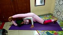 Hijab Doing Sexy Yoga
