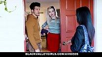 BlackValleyGirls - Thick BlackTeen Sucks Her Neighbours Cock