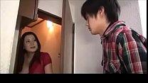 Japanese mom gives blowjob