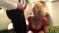 Mature slut with big tits fucked hard