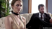 Master Tommy Pistol brings hot Samantha Hayes in the upper floor for bdsm training