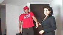 Colombiana Madura con el Compañero de su Hijo