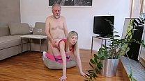 old man fucks small tits babe