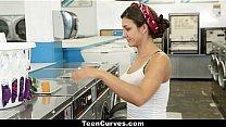 TeenCurves - Bootylicious Teen Fucked Hard in Laundromat