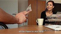 Redhead flashing titties for cash in public