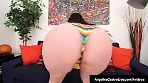 Curvy BBW Angelina Castro Grinds Her Pussy Until She Cums!