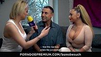 BUMS BESUCH - Busty German porn star Dana Jayn fucks mature amateur fanboy