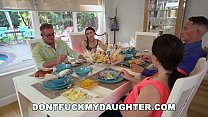 DONTFUCKMYDAUGHTER.COM - Tiny Teen Fucks Daddy's Buddy On Thanksgiving!