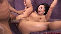 Asian Snatch Split by Big Black Dick