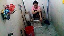 Chinese girl go toilet