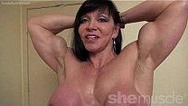 Nude Woman Bodybuilder Posing