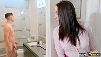 BANGBROS - Stepmom Chanel Preston Catches Son Jerking Off In Bathroom