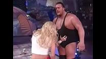WWE - Rare Celebrity Nude WWF - WWE Divas Torrie Wilson yanks down Stacy Keibler s skirt