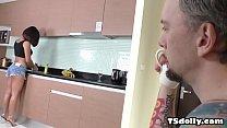 Kai Bailey gaping a tranny asshole