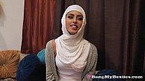 Hot Arab Babes Enjoy Interracial FFFM Foursome