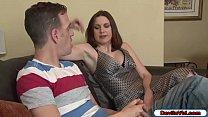 Horny stepmom seducing her stepson to fuck her