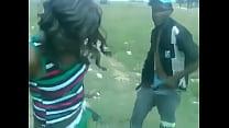 drunk ebony couple have sex in public