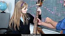 InnocentHigh- Cute Redhead fucks her teacher