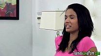 Latina teen gets creamed