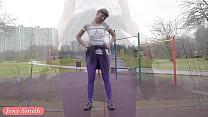 Jeny Smith - pantyhose workout