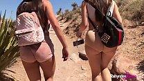 Lesbian fun in beautiful looking rocky area