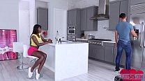 interracial sex between hot babe ebony