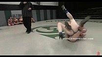 Blonde wrestles a black woman