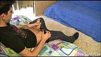 Boy caught masturbating by hot neighbour milf
